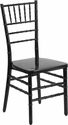 HERCULES PREMIUM Series Black Resin Stacking Chiavari Chair with Free Cushion [BH-BLACK-GG]