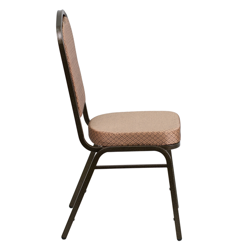 Hercules Series Crown Back Stacking Banquet Chair In Gold