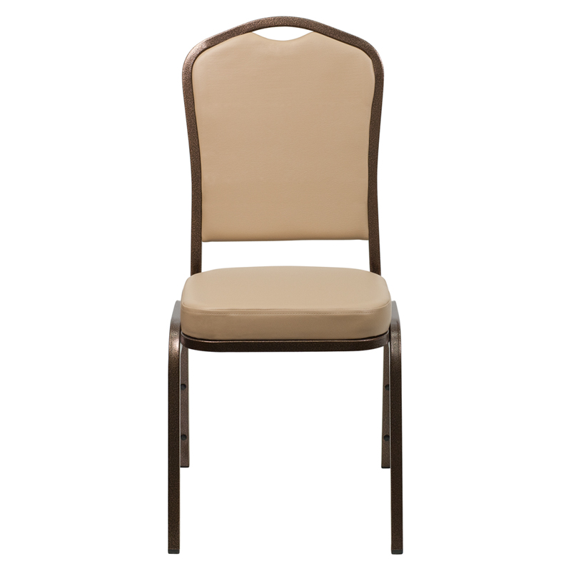 HERCULES Series Crown Back Stacking Banquet Chair in Tan  : hercules series crown back stacking banquet chair with tan vinyl and 2 5 thick seat copper vein frame fd c01 copper tn vy gg 27 from www.bestchiavarichairs.com size 800 x 800 jpeg 100kB