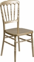 HERCULES Series Gold Resin Stacking Napoleon Chair with Free Cushion [LE-L-8-GD-GG]