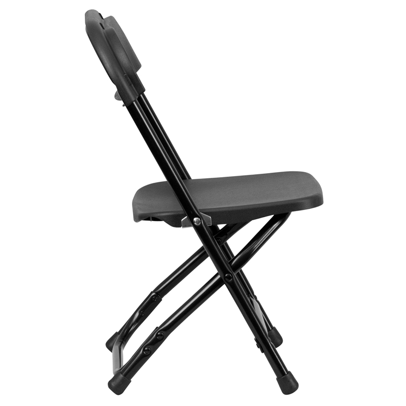 Child Size Folding Chairs kids black plastic folding chair, y-kid-bk-gg
