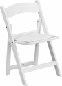 Kids White Resin Folding Chair with White Vinyl Padded Seat [LE-L-1K-GG]
