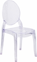 Large Size Ghost Chair in Transparent Crystal [SZ-9007L-GG]