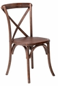 Rustic Sonoma Solid Wood Cross Back Stackable Dining Chair - Red Mahogany [W-706-X02-MFRW-CSP]