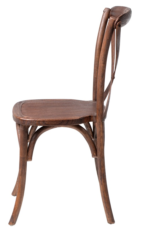 Rustic Sonoma Solid Wood Cross Back Stackable Dining Chair ...