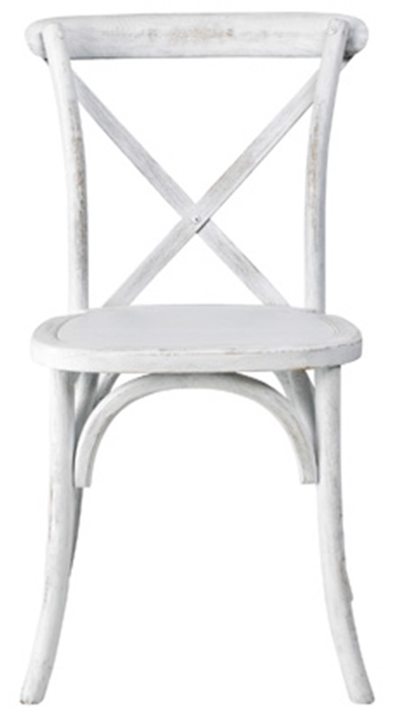 Rustic Sonoma Solid Wood Cross Back Stackable Dining Chair