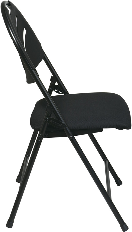 Work Smart Plastic Folding Chair With Fan Back And Padded