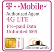 1GB Monthly 4G LTE (Unlimited SMS) Pre-Paid for 3 Months on T-Mobile (USA)