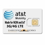 1GB monthly for 6 months SIM Data Plan--ATT M2M SIM CARD - 4G LTE DEVICES ONLY (USA ONLY)