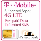 500 SMS per month monthly for 6 months SIM Data Plan--T-Mobile  (USA ONLY)