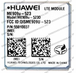 Huawei ME909U-523D 4G LTE CAT 3 w/ 3G Fallback Module: LGA Surface Mount with GPS AT&T - USA Certified