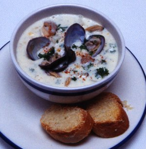 Helen Jennison�s Clam Chowder - Prep. Time 30 Minutes  + Cook Time 60 Minutes