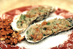 Oysters with Almonds - Prep. Time 45 Minutes