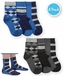 1167 Argyle Stripe Crew Sock 3 Pair Pack