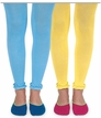 Pima Cotton Ruffle Footless Tights Sale Colors