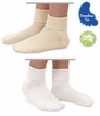 Natural & White Organic Cotton Turn Cuff Socks