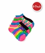 2760 Animal & Stripes Low Cut 6 PK