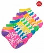 Wavy Stripe & Daisy Low Cut 6 Pair Pack