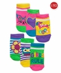 Girls Rule Low Cut 6 Pair Pack