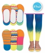 2799 Silly Stripe Footie Socks 3 Pair Pack