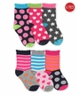 2807 Dots/Hearts/Stars/Stripes Crew 6 Pair Pack