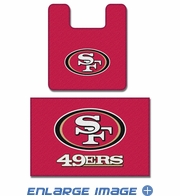2PC Bathroom Rug Set - San Francisco 49ers