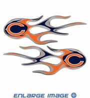2PC Decal Set - Micro Flames - Chicago Bears