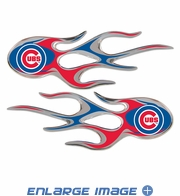 2PC Decal Set - Micro Flames - Chicago Cubs