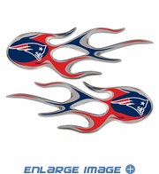 2PC Decal Set - Micro Flames - New England Patriots
