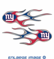 2PC Decal Set - Micro Flames - New York Giants