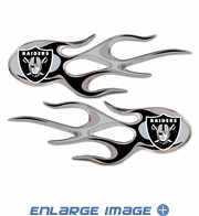 2PC Decal Set - Micro Flames - Oakland Raiders