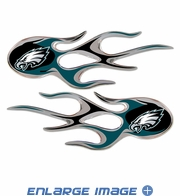 2PC Decal Set - Micro Flames - Philadelphia Eagles