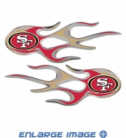 2PC Decal Set - Micro Flames - San Francisco 49ers