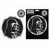 2pc Decal Sticker - Car Truck SUV - Classic Emblemz - Star Wars - Darth Vader