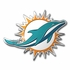 3D Color Emblem - Miami Dolphins