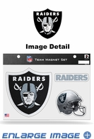 3PC Magnet Set - Bling - Office Home Car Fridge - Oakland Raiders