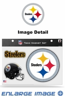 3PC Magnet Set - Bling - Office Home Car Fridge - Pittsburgh Steelers