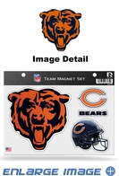 3PC Magnet Set - Bling - Office Home Car Fridge - Chicago Bears