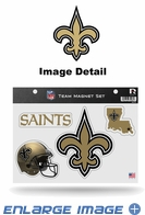 4PC Magnet Set - Office Home Car Fridge - New Orleans Saints