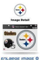 3PC Magnet Set - Office Home Car Fridge - Pittsburgh Steelers