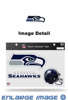 3PC Magnet Set - Office Home Car Fridge - Seattle Seahawks