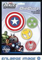 4PC Decal Set - Marvel Avengers - Superhero Logos