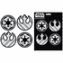 4pc Decal Sticker - Car Truck SUV - Classic Emblemz - Star Wars - Badges