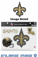 4PC Magnet Set - Bling - Office Home Car Fridge - New Orleans Saints