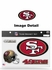 4PC Magnet Set - Bling - Office Home Car Fridge - San Francisco 49ers