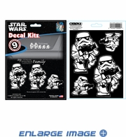 9PC Decal Kit - Star Wars - Storm Trooper Family