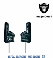 Antenna Topper - Car Pencil - Mini Foam Finger - Oakland Raiders