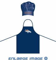 Apron & Chef Hat - BBQ Set - Denver Broncos