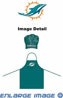 Apron & Chef Hat - BBQ Set - Miami Dolphins
