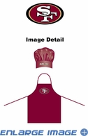Apron & Chef Hat - BBQ Set - San Francisco 49ers